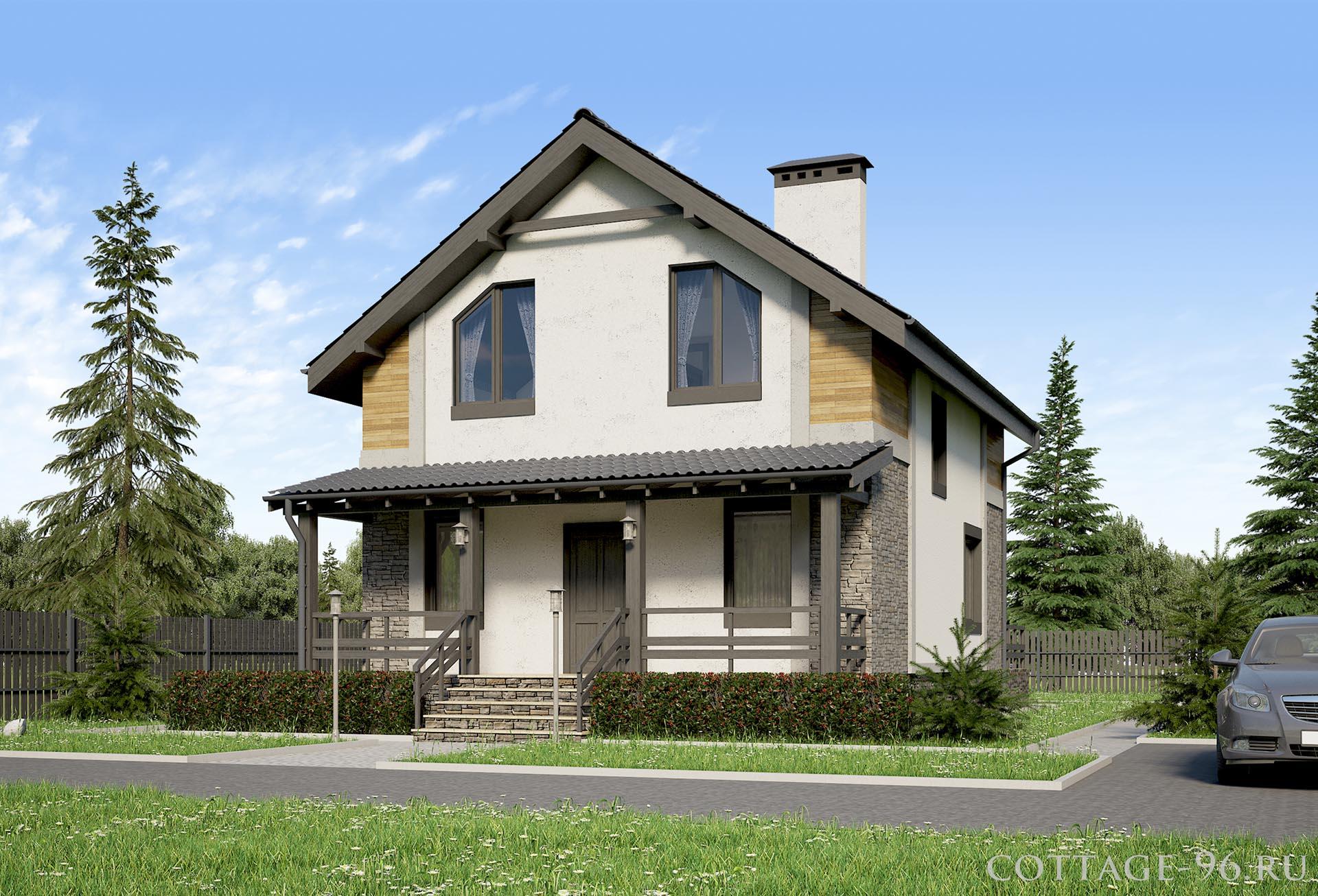 Проект двухэтажного дома с гаражом фото 175