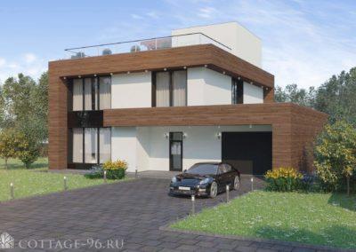 Проект дома в современном стиле кп «Заповедник»