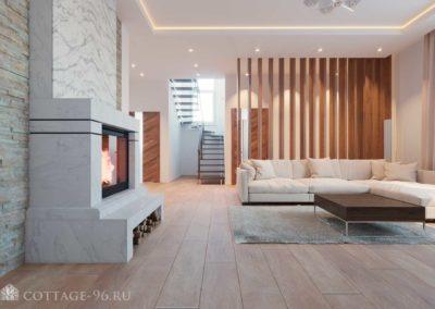 Дизайн-проект интерьера уютной гостиной пос. Старопышминск