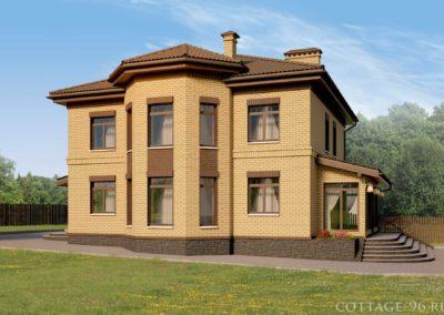 Индивидуальный проект двухэтажного дома для семьи с облицовкой кирпичом