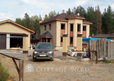 Построен комплекс из дома, гаража и бани  в КП «Солнечный», Курганово