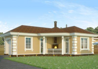 Проект гаража-бани с барбекю в классическом стиле