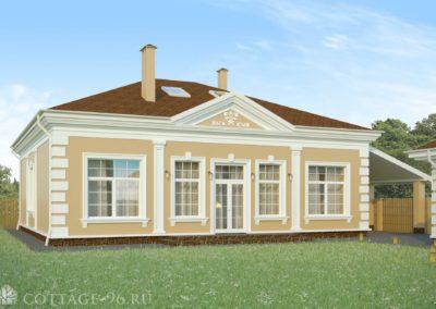 Одноэтажный дом с мансардой в классическом стиле (Малый Исток) ПОСТРОЕН