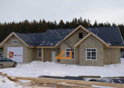 Ведется строительство дома в американском стиле