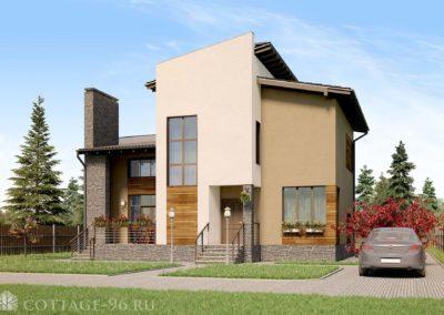 Проект дома в Березовском в современном стиле площадью 183 кв. м. (ПОСТРОЕН)