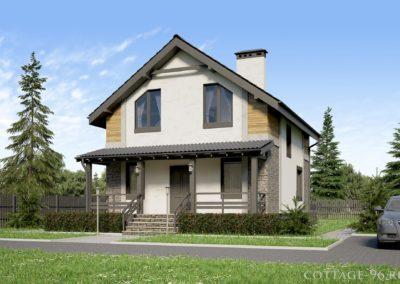 Готовый проект дома 8 на 10 м из пеноблоков для узкого участка — 20 000 рублей