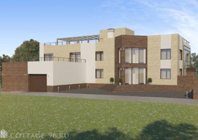 Проект реконструкции двухэтажного дома с гаражом в современном стиле