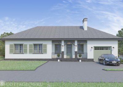 Индивидуальный проект одноэтажного дома в стиле прованс