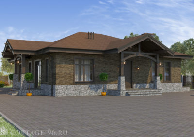Проект одноэтажного дома из керамических блоков на 186 кв. м.