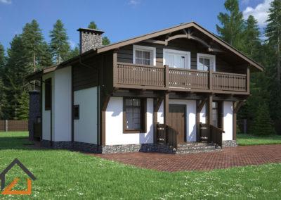 Проект дома в стиле Шале из керамических блоков общей площадью 240 кв. м.