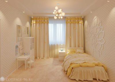 Дизайн-проект детской для маленькой принцессы в коттедже (пос. Старопышминск)