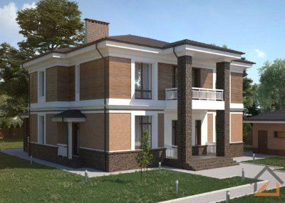 Проект двухэтажного дома в КП «Галактика»