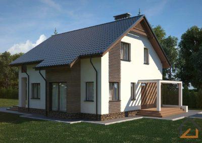 Проект дома с мансардой из газоблока площадью 192 кв. м.