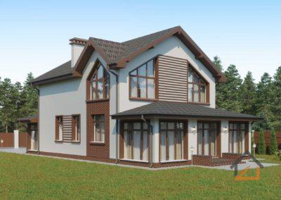 Проект дома из газоблоков в Невьянске с вторым светом общей площадью 175 кв. м.