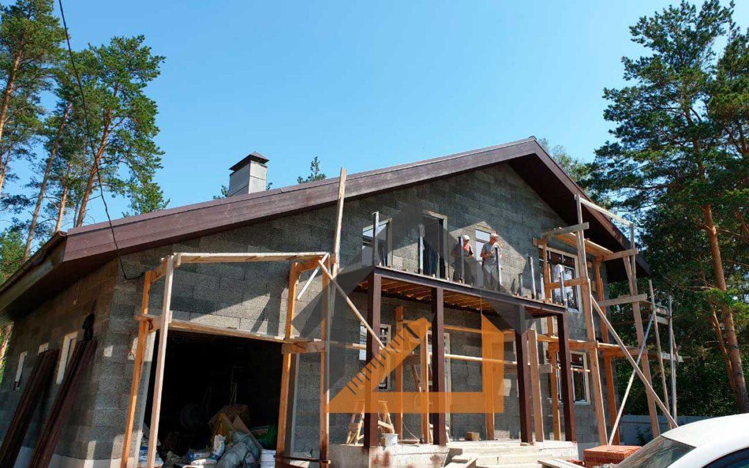 По нашему проекту ведется строительство дома из бризолита в Палкинском торфяннике